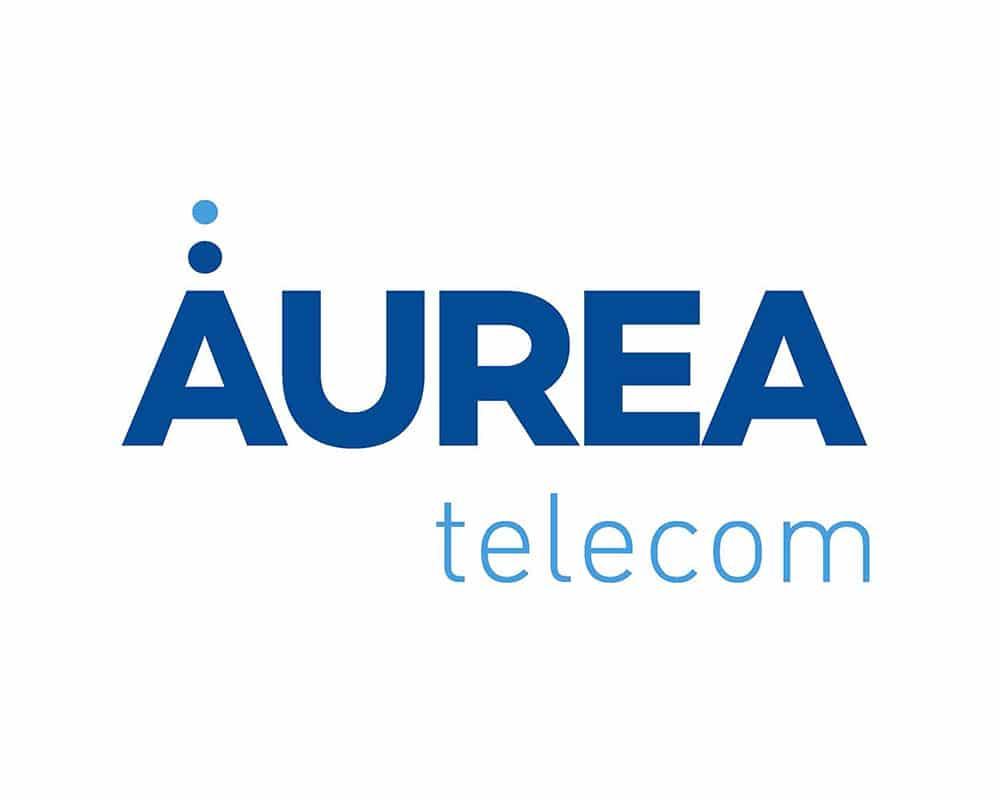 Diseño de logo para Áurea Telecom