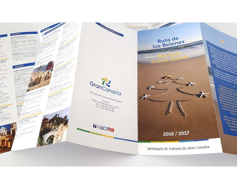 Diseño gráfico folletos Patronato de Turismo Gran Canaria