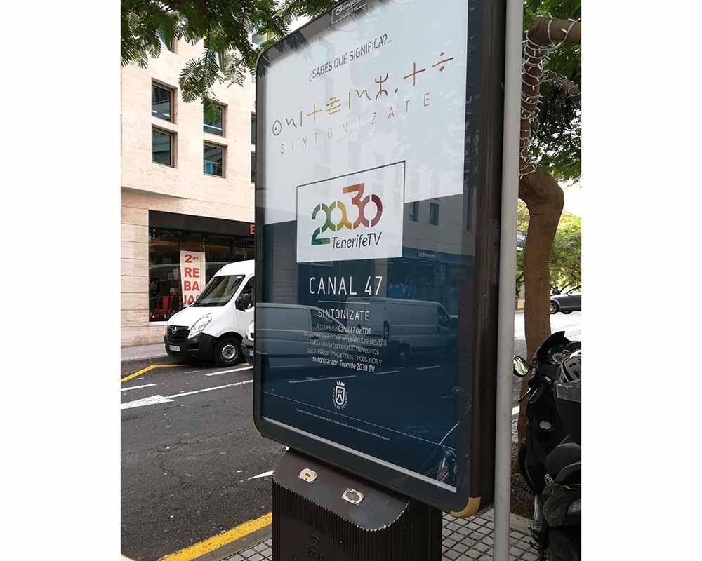Diseño de valla publicitaria para el Cabildo de Tenerife