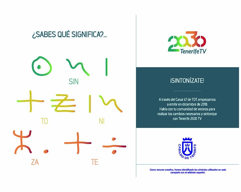 Diseño de anuncio para el Cabildo de Tenerife