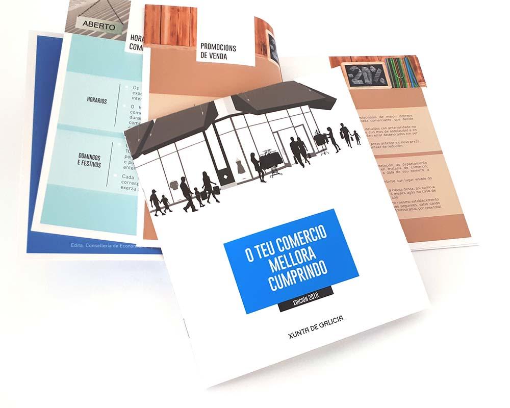Diseño gráfico campaña comercio Xunta de Galicia