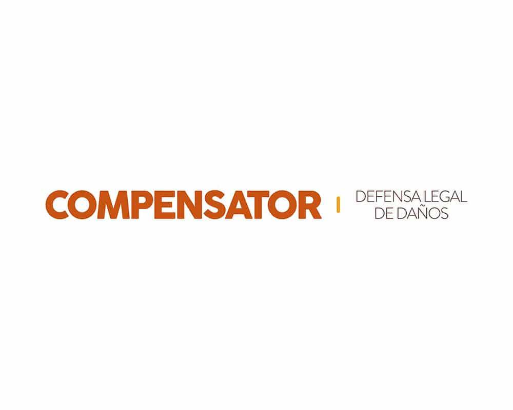 Diseño de logo para Compensator reclamación de seguros en Vigo