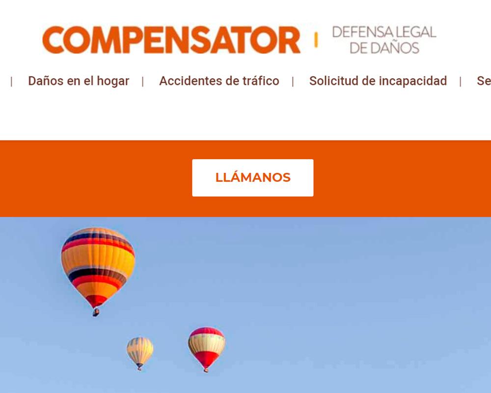 Diseño web para Compensator Reclamaciones a aseguradoras en Galicia