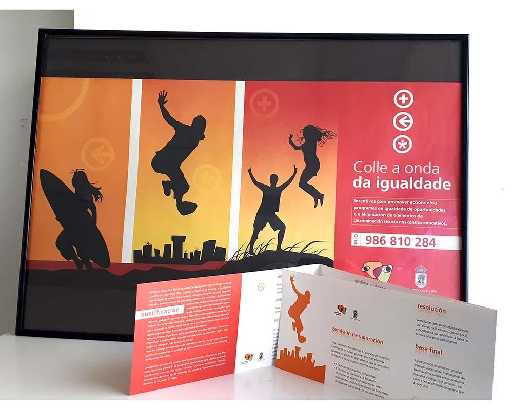 Diseño folleto igualdad Ayuntamiento de Vigo