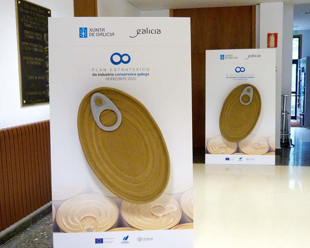 Diseño de Cartelería Industria Conserveira Galega