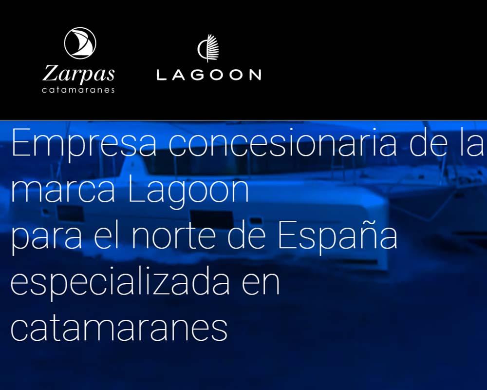 Diseño web para Zarpas Catamaranes Lagoon